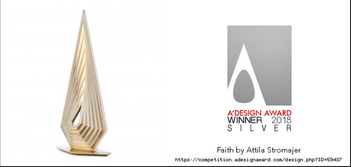 A'Design Award 2018 – Faith lamp